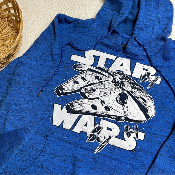 Star Wars Blue Hoodie Sweatshirt Unisex Small